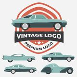 Car Vintage Logo for Your logo - retro logo best for your logo c Royalty Free Stock Photo