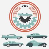 Car Vintage Logo for Your logo - retro logo best for your logo c Stock Photos
