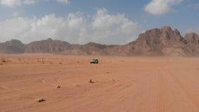Car in Wadi Rum Royalty Free Stock Image