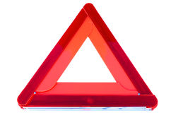 Car warning. Car breakdown warning triangle isolated Royalty Free Stock Photography