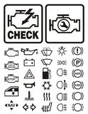 Car warning symbols