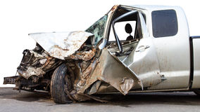 Car was demolished Royalty Free Stock Photography