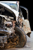 Car was demolished. Wheel, headlight, windshield. And other parts, as part of the car was demolished Royalty Free Stock Photo