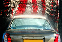 At the car wash Royalty Free Stock Photos