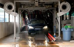 Car Wash. Photographed SUV going through car wash Stock Photo