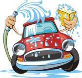 Car wash royalty free illustration