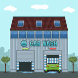 Car wash. A car in an automatic car wash Royalty Free Stock Images