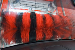 Car  wash. Automated car wash experience, as viewed from inside the car Stock Images