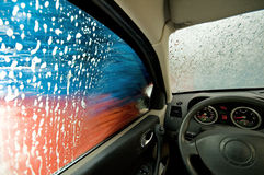 In the car wash