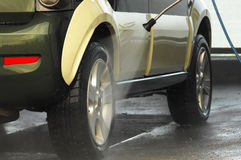 Car wash. On a cleaning station Stock Photo