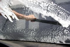 Car wash. From the car Royalty Free Stock Images