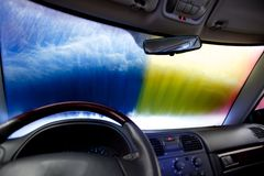 Car Wash Abstract Royalty Free Stock Photography