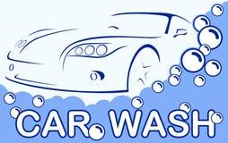 Car wash. Abstract Lines Logo. Vector illustration Stock Photo