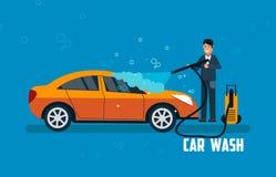 Car wash banner Stock Photos