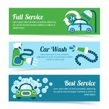 Car wash banners Royalty Free Stock Image