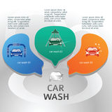 Car-wash-brochure-page-background-with-steel-bubbles Royalty Free Stock Image