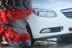 Car wash brushes Royalty Free Stock Image