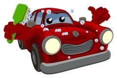 Car Wash Cartoon Mascot Stock Photo