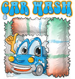 Car wash cartoon Stock Image
