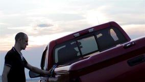 Car wash cloth stock video footage