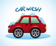 Car wash design Royalty Free Stock Image