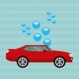 Car wash design. Illustration eps10 graphic Royalty Free Stock Photography