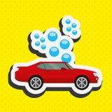 Car wash design. Illustration eps10 graphic Royalty Free Stock Photos