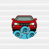 Car wash design. Illustration eps10 graphic Stock Photography