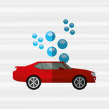 Car wash design. Illustration eps10 graphic Royalty Free Stock Images