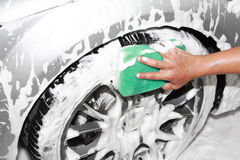 Car wash detailing. This small business in country Royalty Free Stock Photography