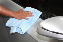 Car wash detailing. This small business in country Royalty Free Stock Images