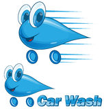 car wash drip cartoon Royalty Free Stock Image