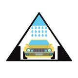 Car wash emblem and symbol. Sign automobile servicing Stock Photo