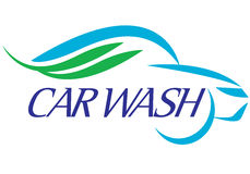 Car wash.eps. Special symbol for car wash company on background royalty free illustration
