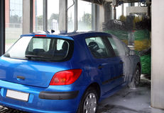 Car wash. European car entering in car wash Stock Photography