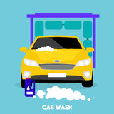 Car Wash Flat Concept Icon Stock Images