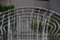 Car Wash Fountain in Portland, Oregon: Image 2. This is Car Wash Fountain in action on SW 3rd Avenue near West Burnside in Portland, Oregon Royalty Free Stock Images
