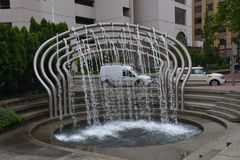 Car Wash Fountain, Image 3 in Portland, Oregon. Car Wash Fountain near SW 3rd Avenue and West Burnside in Portland, Oregon Royalty Free Stock Images