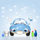 Car wash. Funny illustration of car wash royalty free illustration