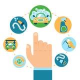 Car wash hand Stock Photography