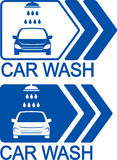 Car wash icon with arrow Stock Photo