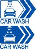Car wash icon with arrow Stock Photo