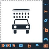 Car wash icon flat royalty free illustration
