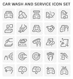 Car wash icon. Car wash and service icon set for car care business graphic design royalty free illustration