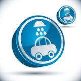 Car wash icon. Royalty Free Stock Photography