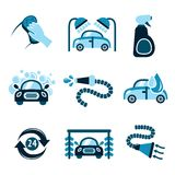 Car Wash Icons Royalty Free Stock Photography