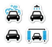 Car wash icons set -  Stock Images