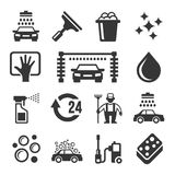 Car Wash Icons Set Stock Photo
