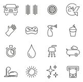 Car Wash Icons Thin Line Vector Illustration Set. This image is a vector illustration and can be scaled to any size without loss of resolution vector illustration