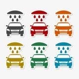 Car wash icons vector illustration